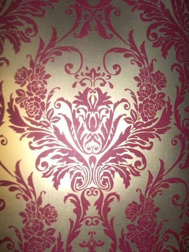 MEDINA RED & GOLD DAMASK FEATURE WALLPAPER BY DEBONA 4004 | eBay ...