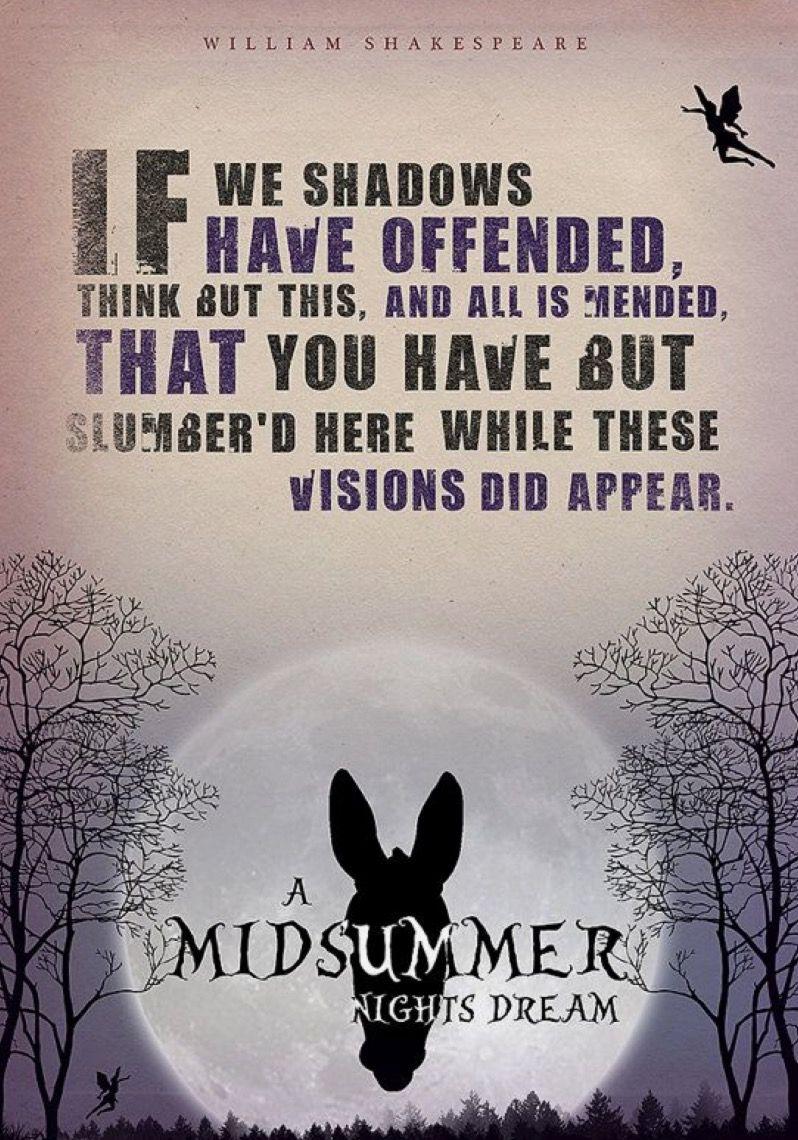 A midsummer nights dream midsummer nights dream quotes