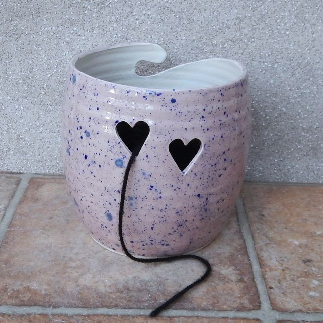 Yarn bowl ......knitting or crochet ..... hand thrown pottery More