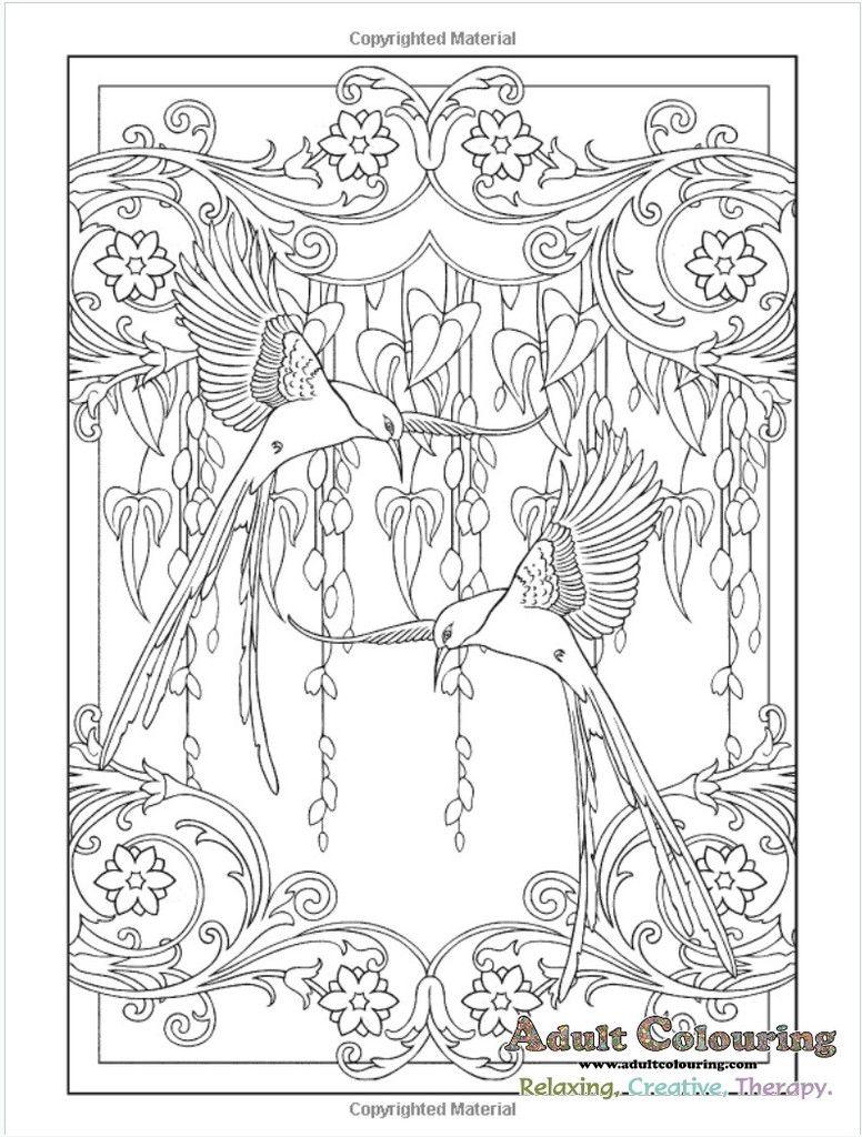 - Art Nouveau Animal Designs Coloring Book Coloring Pages
