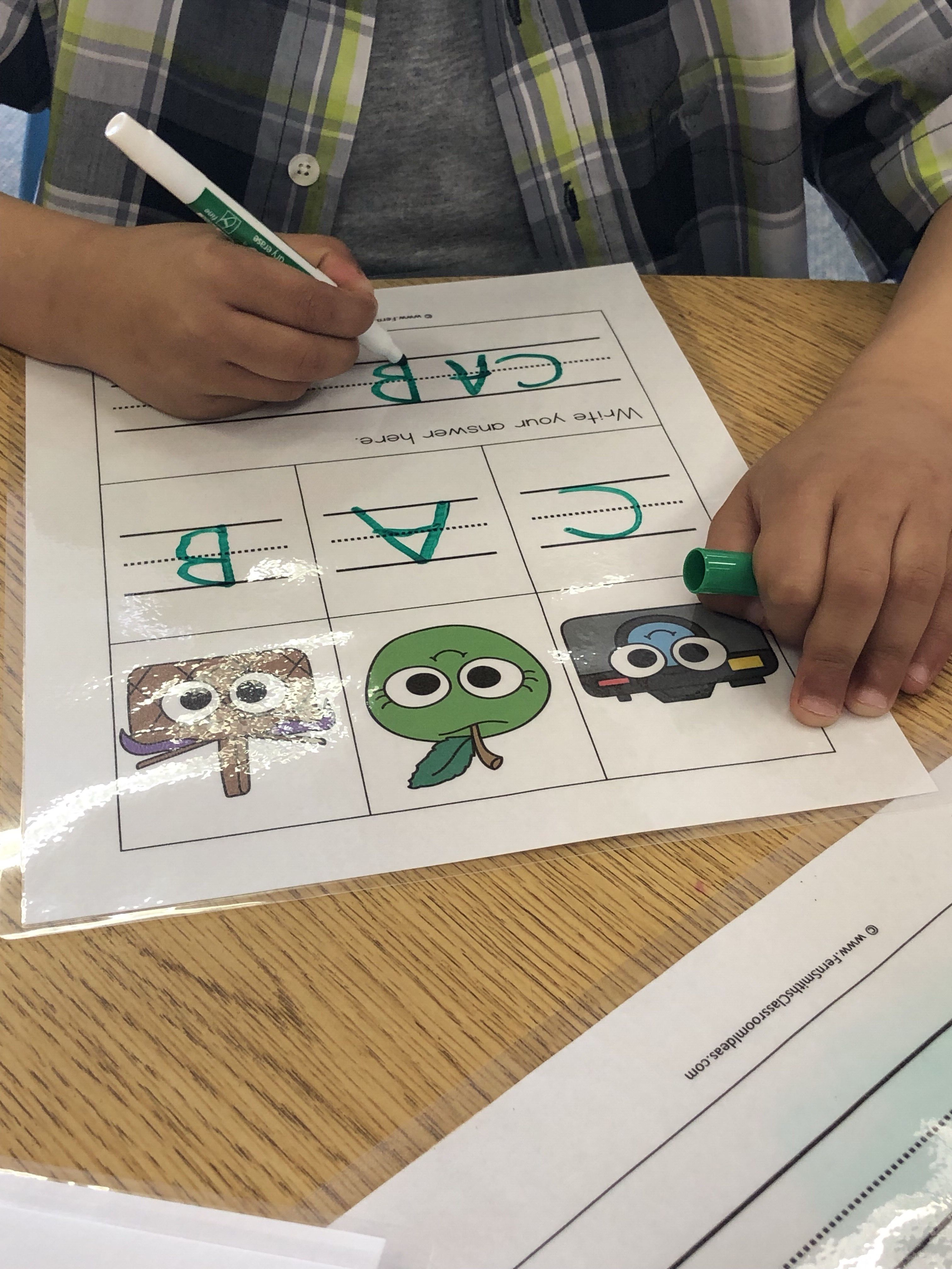 Alphabet Cards And Worksheets For Mystery Cvc Word Fun