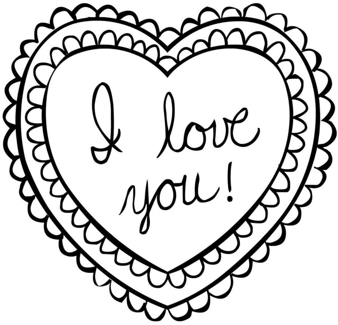 Heart Coloring Pages Heart Coloring Pages Valentines Day