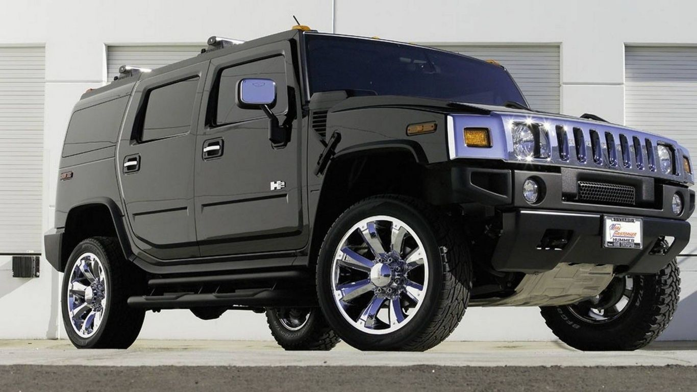 Hummer H2 Black Car Wallpaper Hd Desktop Wallpapers And Photos