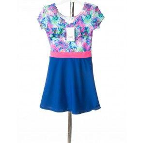 0aa0707c9c1  2289 Sale Rack Item   Swim Dress   Girls Size 5   Lilypad   Royal Blue    Pink