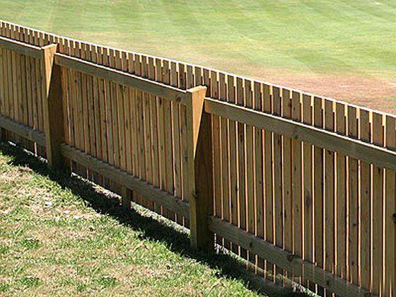 Garden Fence Ideas | Backyard buildings, Wood fence design ...
