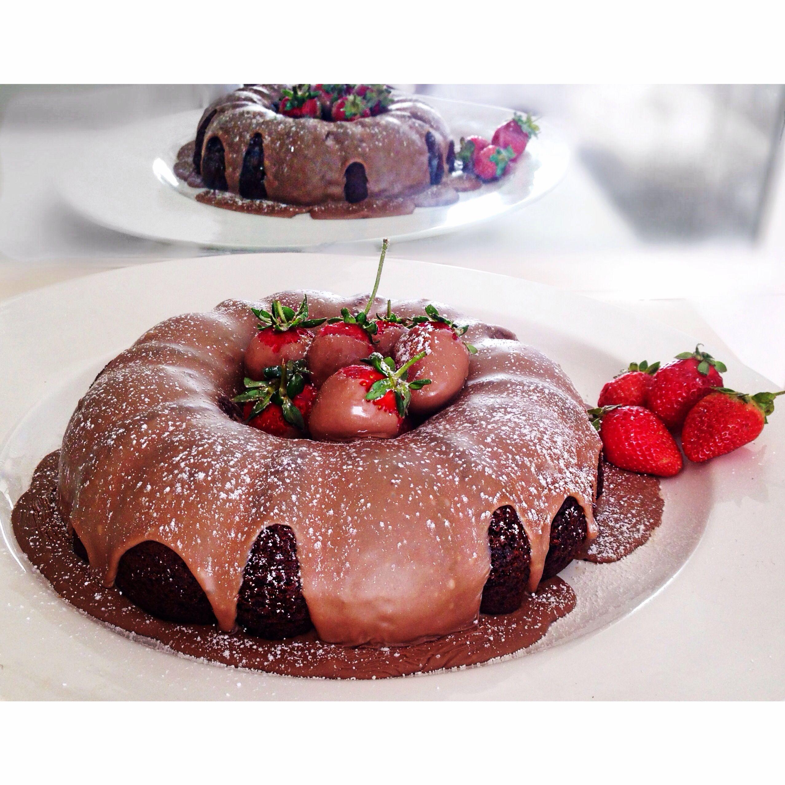Chocolate Bundt Birthday Cake With Choc Glaze Ganache - Bundt birthday cake