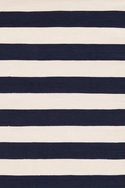 Catamaran Stripe Navy Ivory Indoor Outdoor Rug Dash Albert Striped Rug Dash Albert Blue White Rug