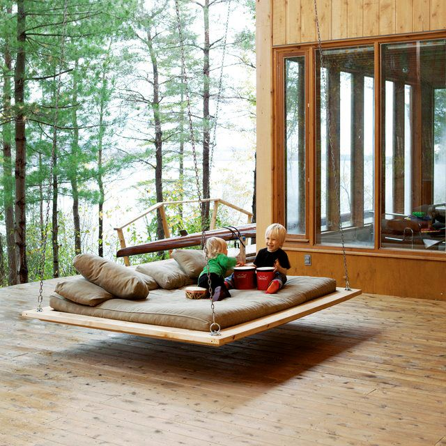 Cozy and intimate space - porch with #swing