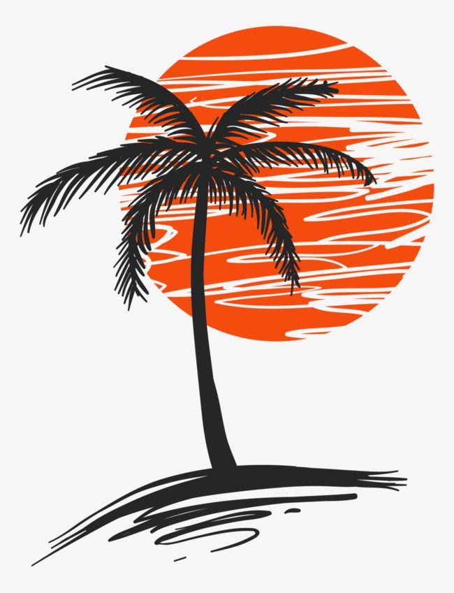 Illustration Of Palm Trees Png Free Download Vector Material Palm Hand Painted Material Png Transparent Clipart Image And Psd File For Free Download Coconut Tree Drawing Tree Drawing Palm Tree Drawing