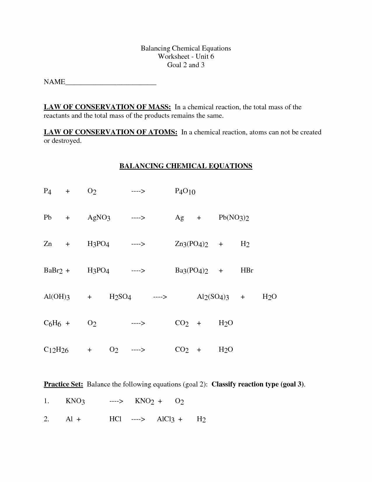 Balancing Equations Worksheet Answers Elegant 12 Best Of