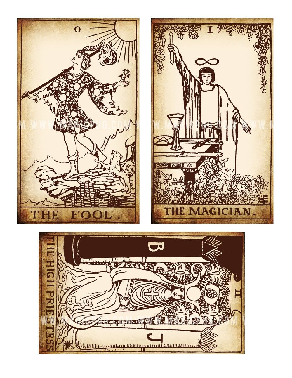 This is a picture of Ambitious Free Printable Tarot Cards Pdf