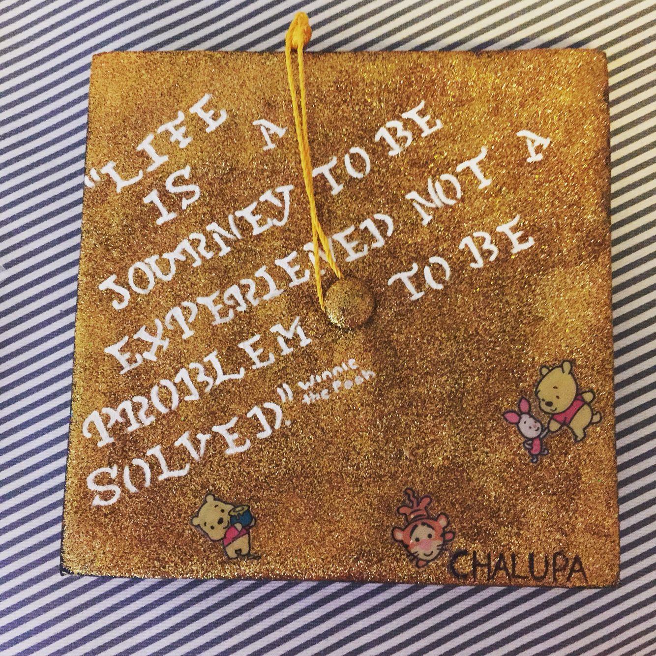 My graduation cap winnie the pooh quote i absolutely love and it cap decorations my graduation cap winnie the pooh quote i absolutely love and it was so much amipublicfo Images
