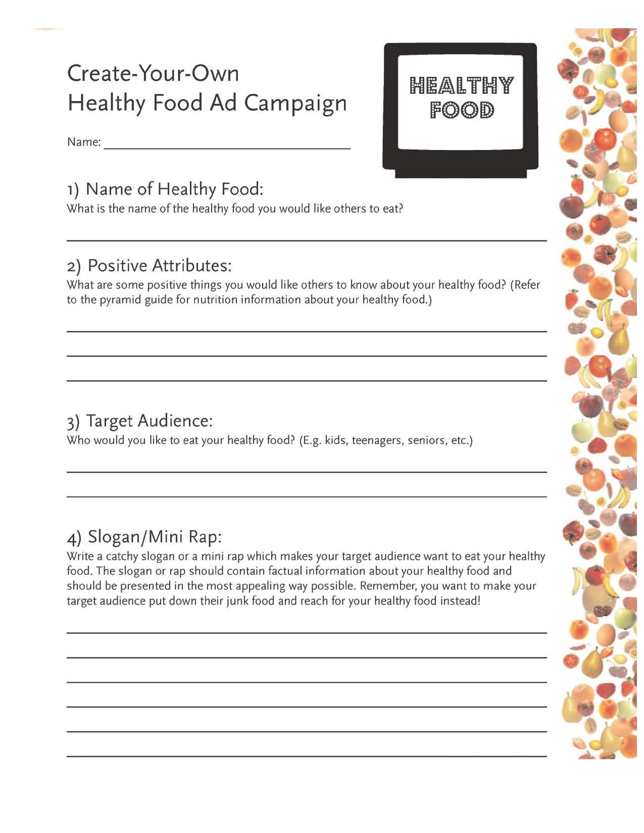 Free Worksheet Healthy Eating Worksheet 1000 images about food science on pinterest blind trust lesson plans and inc
