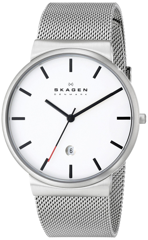 Skagen Men's SKW6052 Ancher Quartz 3 Hand Date Stainless Steel Silver Watch