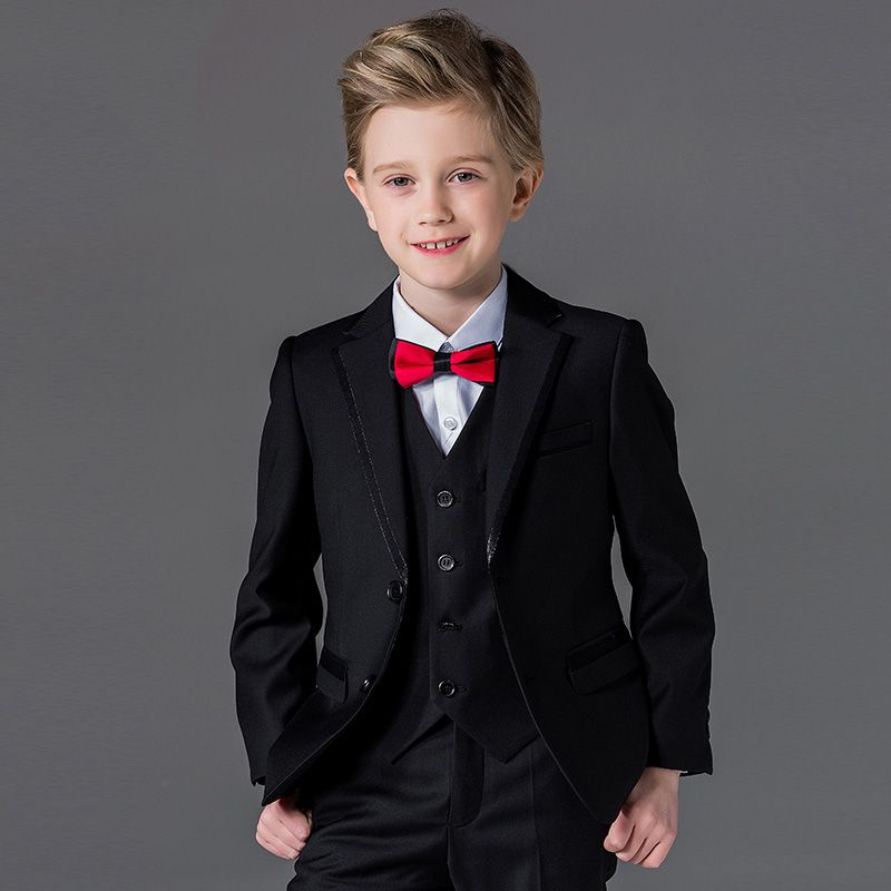 Aliexpress Com Buy Brand 2017 Spring Autumn Black Boys Suits For Weddings Single Breasted Korean Style Prom Boys Formal Suits Formal Wedding Suit Boys Suits