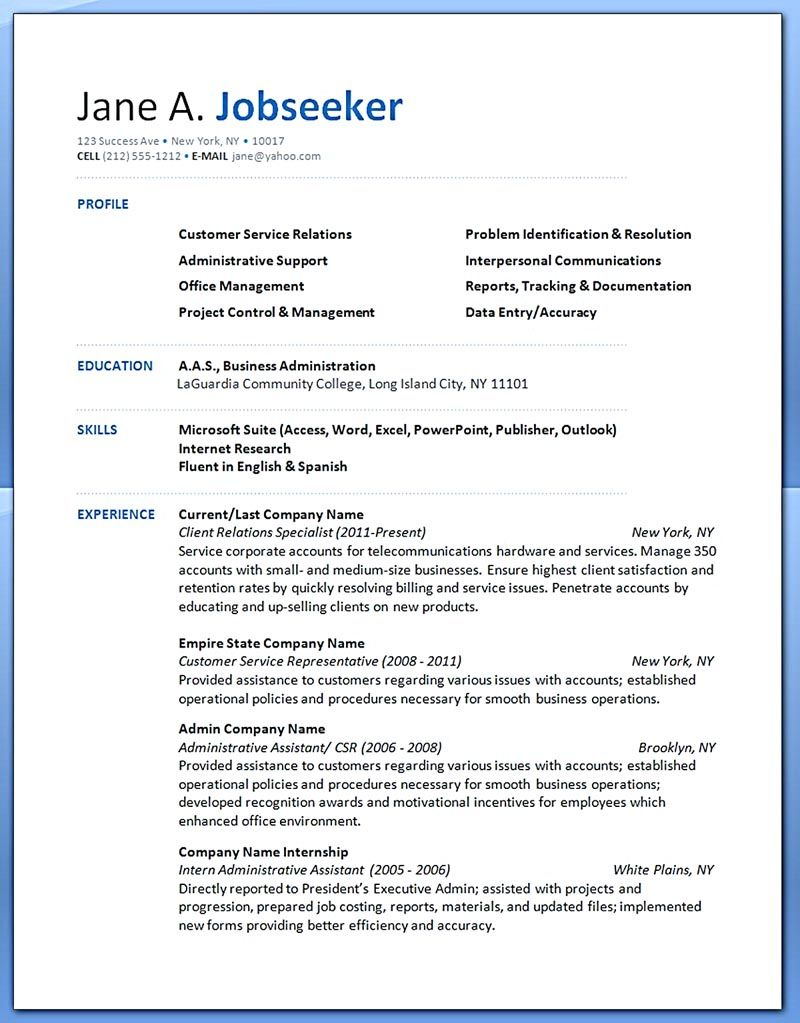 example of educational background in resume