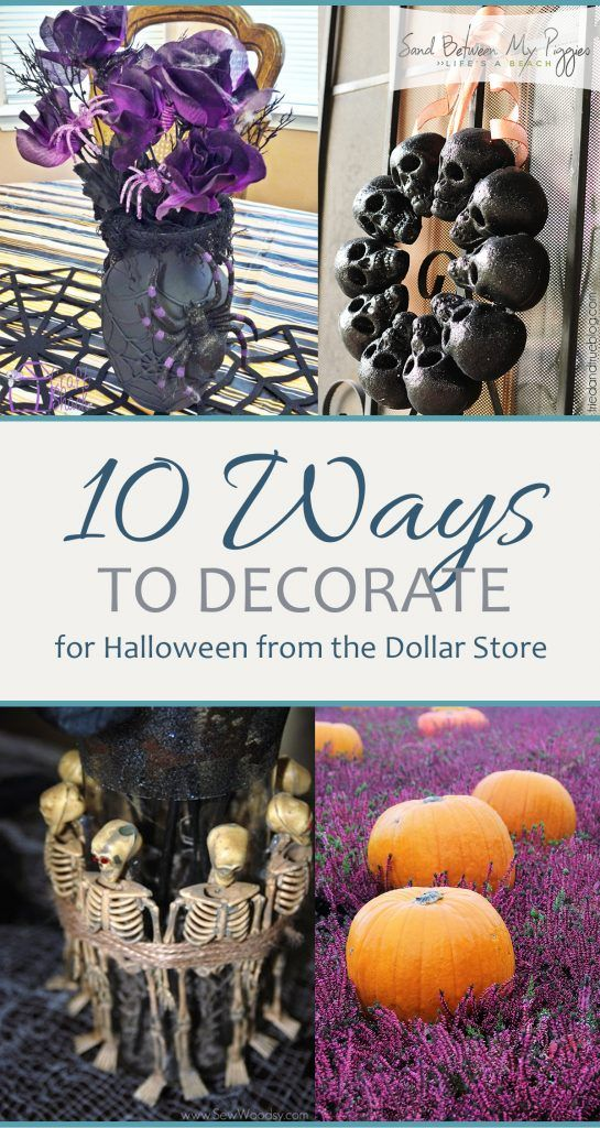 Dollar Store Halloween, DIY Halloween Decor, Halloween Decor, Dollar - cheap easy diy halloween decorations