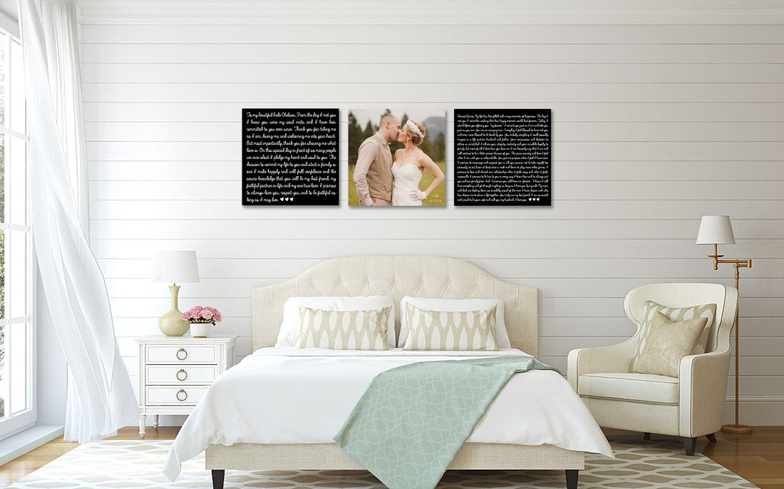 Wedding Vow Art Vows On Canvas These Would Make A Great Photo Prop