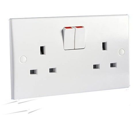 2 gang 13a switched double socket outlet ultimate white moulded 2 gang switched socket outlet get ultimate white moulded cheapraybanclubmaster Images