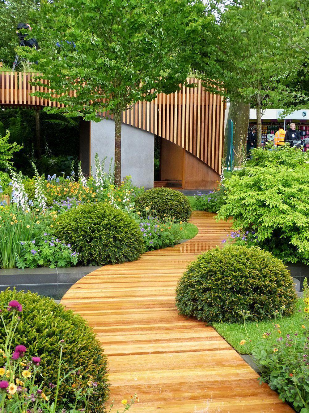 Homebase Urban Retreat garden at RHS Chelsea Flower Show. A cute