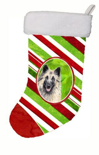 Belgian Tervuren Candy Cane Holiday Christmas Christmas Stocking SC9352