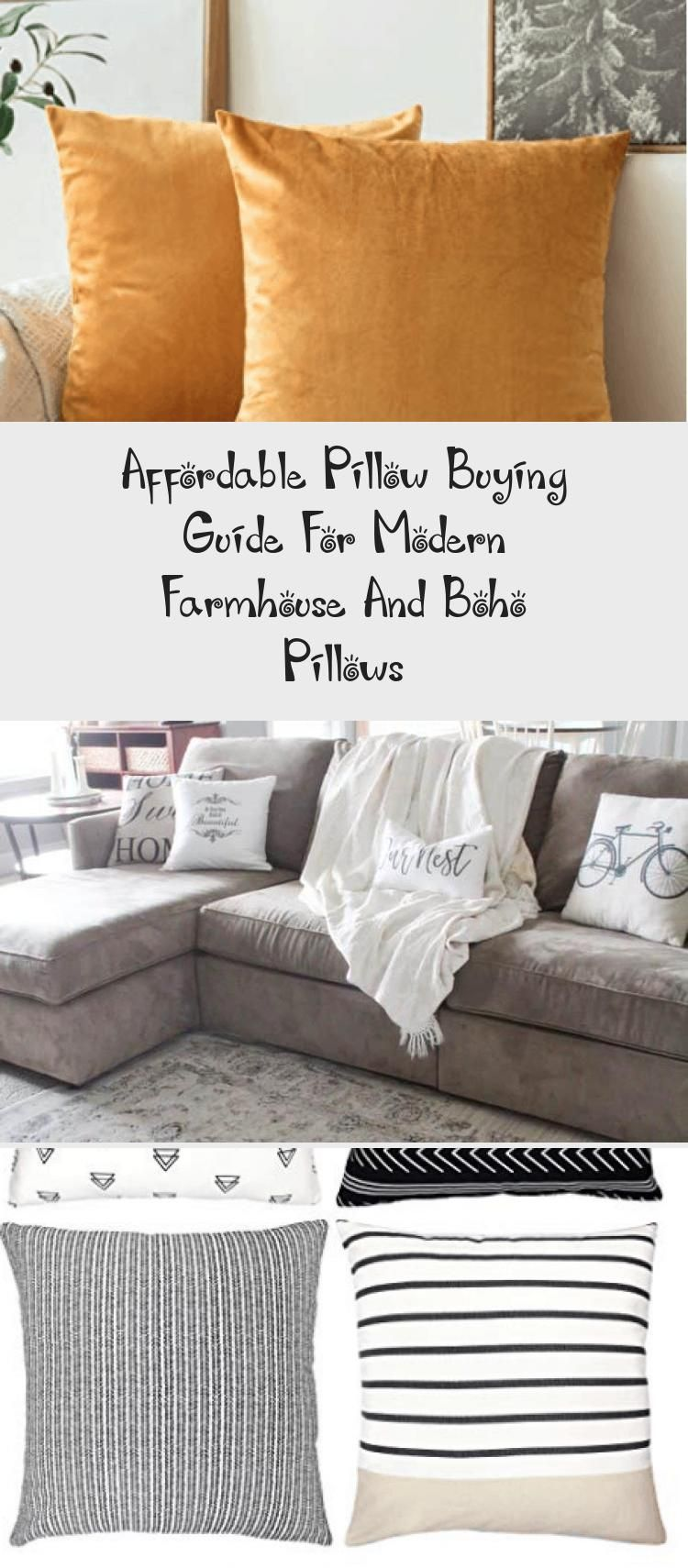 Affordable pillow buying guide for modern farmhouse and