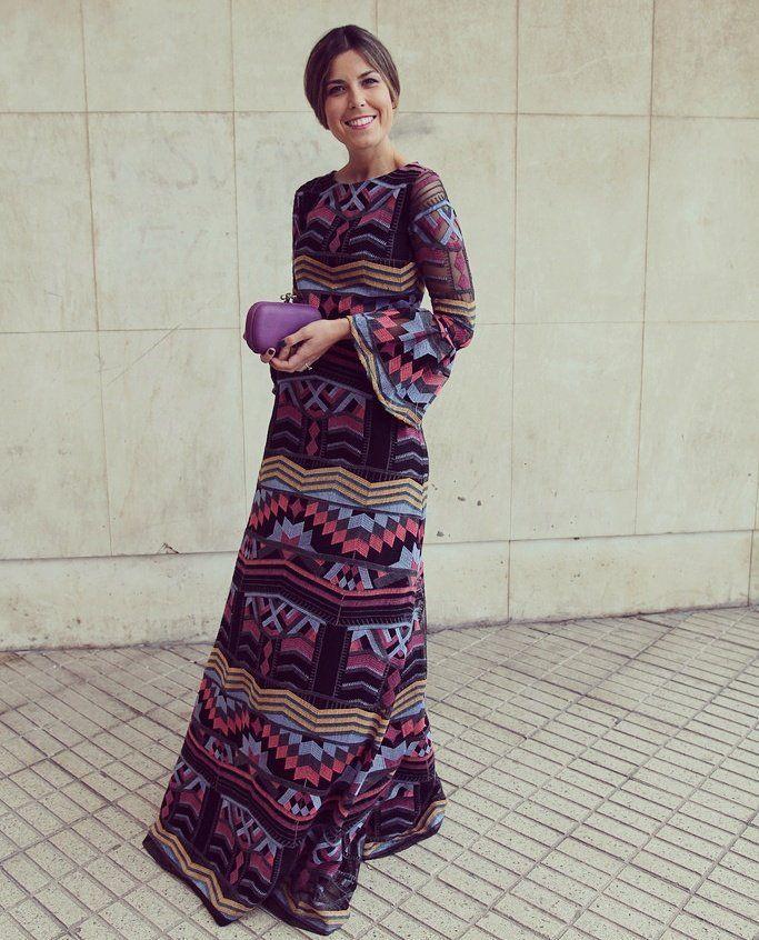 Vestido largo etnico fiesta