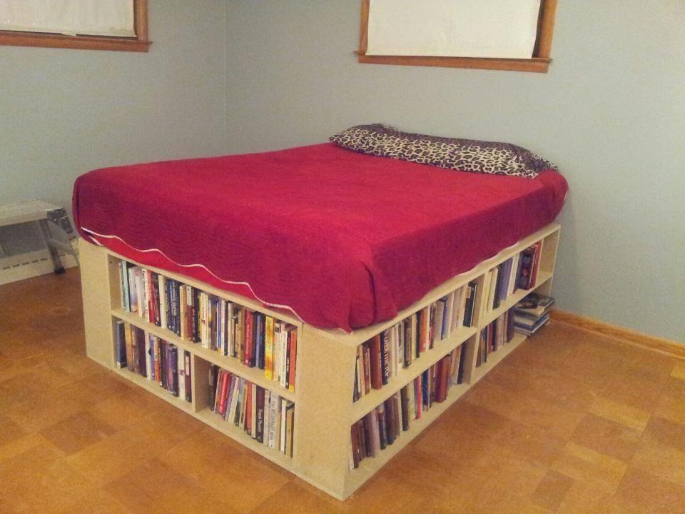 The Bookshelf Bed My Husband Made Bookshelf Bed Diy Furniture Home Decor