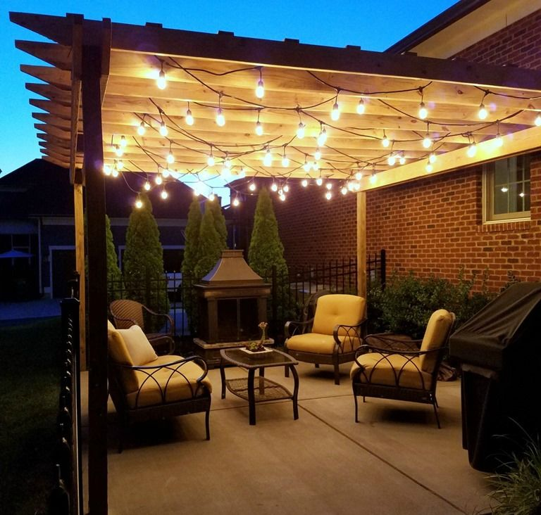 Patio Pergola And Deck Lighting Ideas And Pictures: Pergola String Lights Set A Romantic Mood In Your Backyard