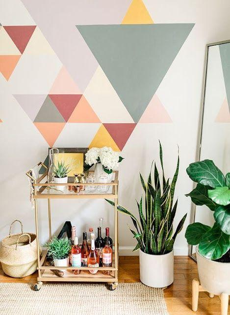 20 Ideas Geometric Wall Decor (con immagini) | Parete ...