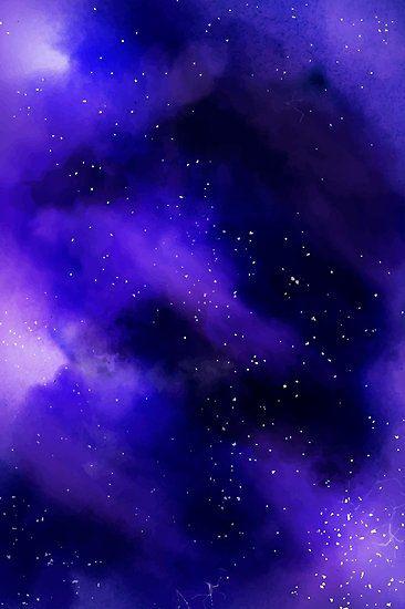 Purple Galaxy Art Poster