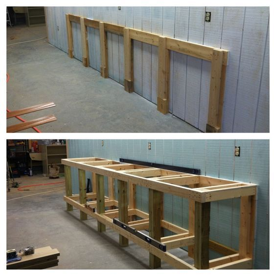 Shop Work Bench Framing. 4x4, 2x4, And 2x6 Construction