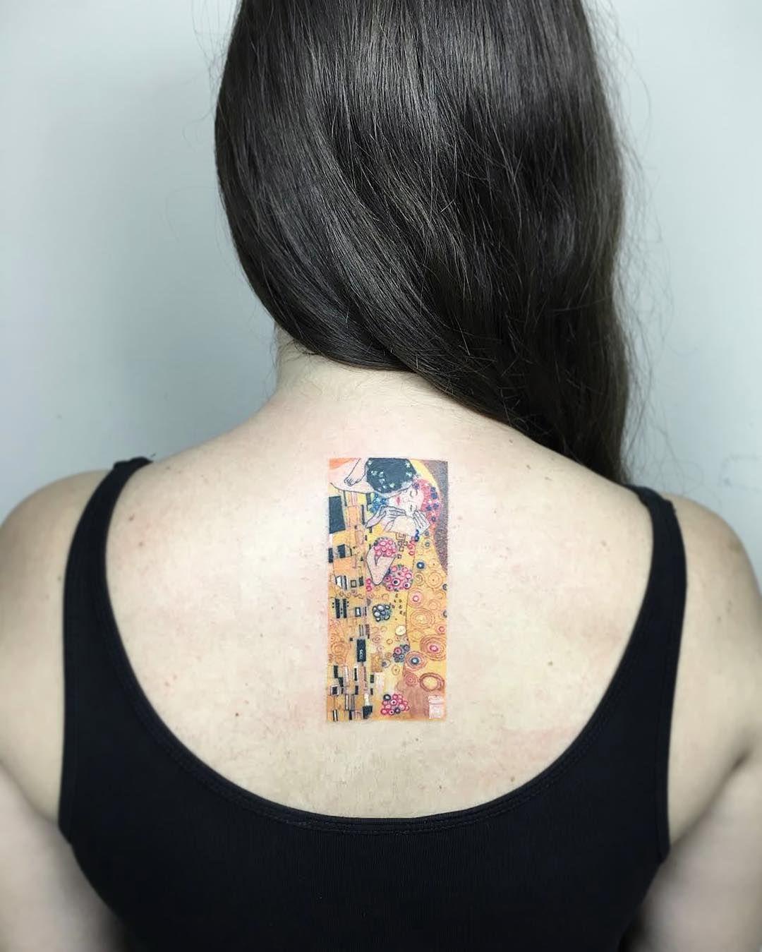 Gustav Klimt/Der Kuss  #healedtattoo #klimtkiss #inked #tattoo #tatuaje #tattoos #ink