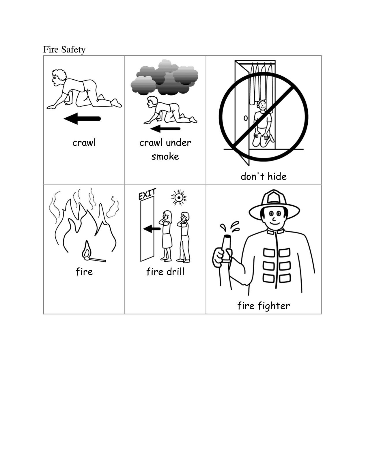Fire Safety Kindergarten Nana Fire Safety Worksheets Kindergarten Special Education Fire Safety Kindergarten [ 1650 x 1275 Pixel ]