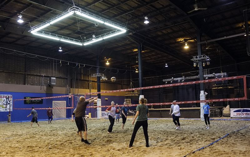 Verdict Still Out On Indoor Sand Volleyball Court At Bar Sand Volleyball Court Indoor Volleyball Volleyball