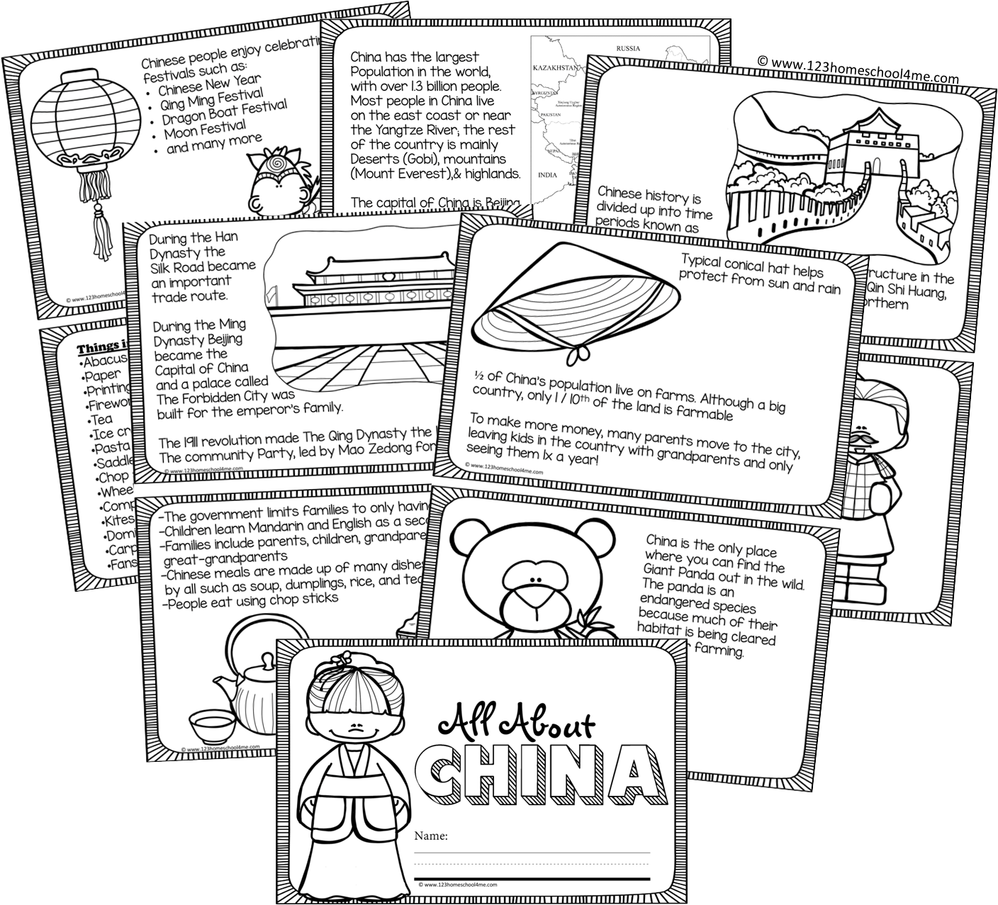 hight resolution of Printable All About China Book for Kids   China for kids