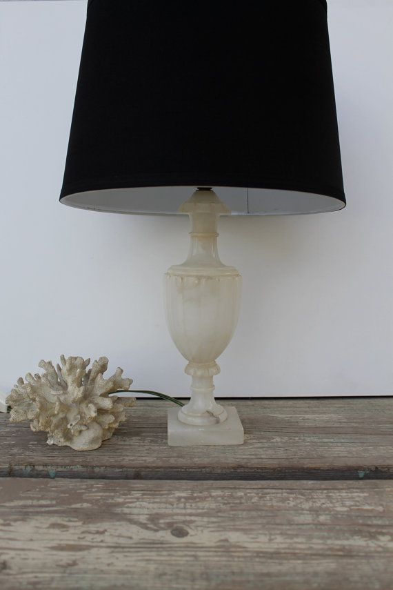 White Marble Table Lamp Vintage Alabaster Alabaster Lamp Marble Table Lamp Vintage Table Lamp