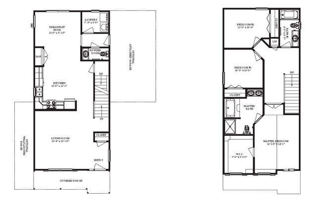 Narrow Lot House Plans Home Floor 32071 Jpg 663 413