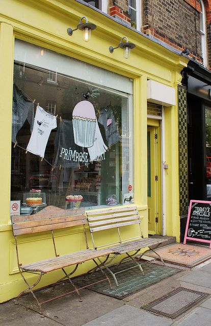 Primrose Bakery Primroses, Bakeries and Bench