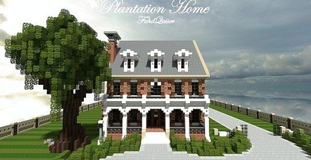 plantation home country brick minecraft house design plantation home designs historical contemporary plantation home country brick minecraft house design - Minecraft Home Designs