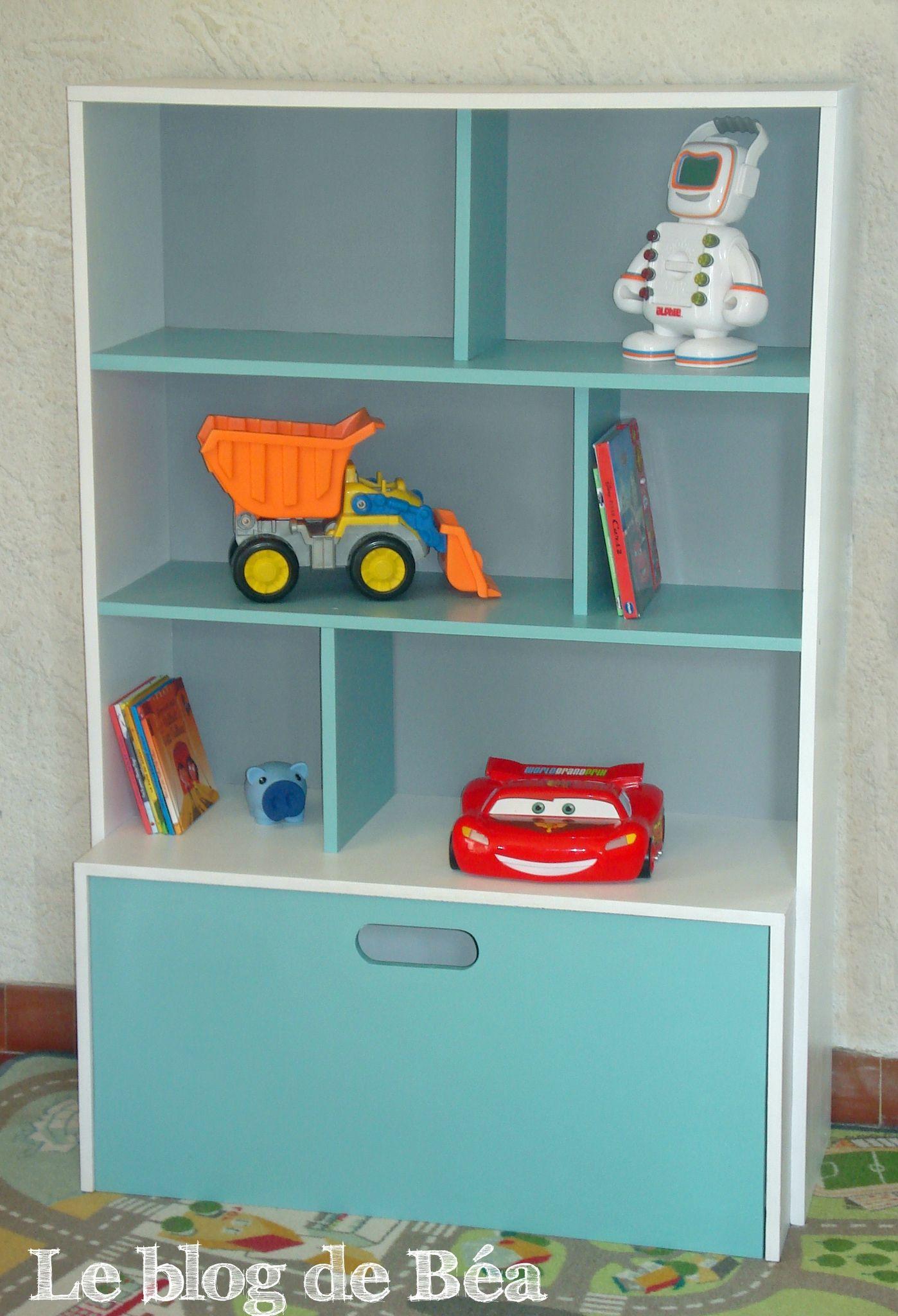 diy tagre pour chambre denfant et coffre jouets - Etagere Enfant Deco
