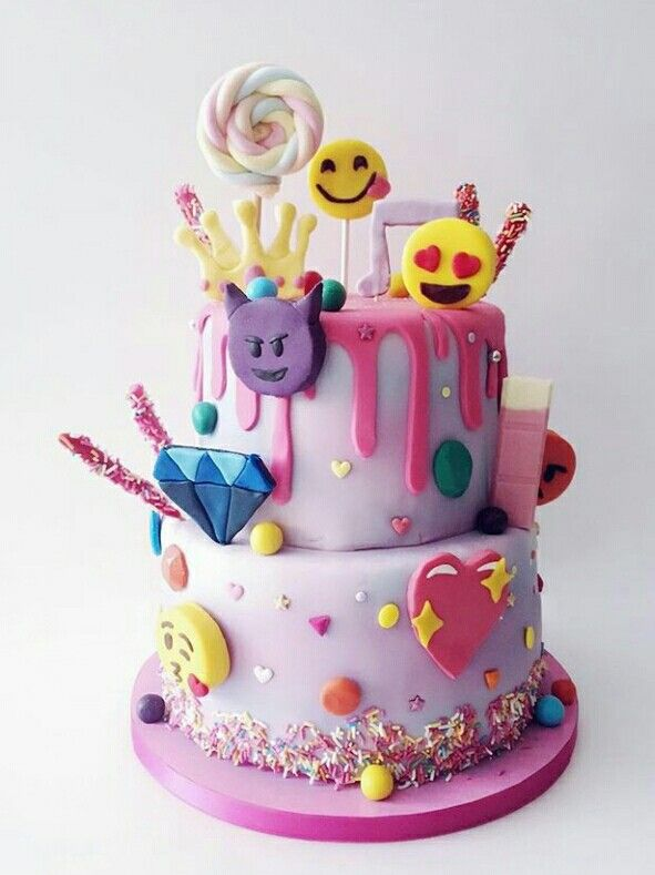 Girly Emoji Cake