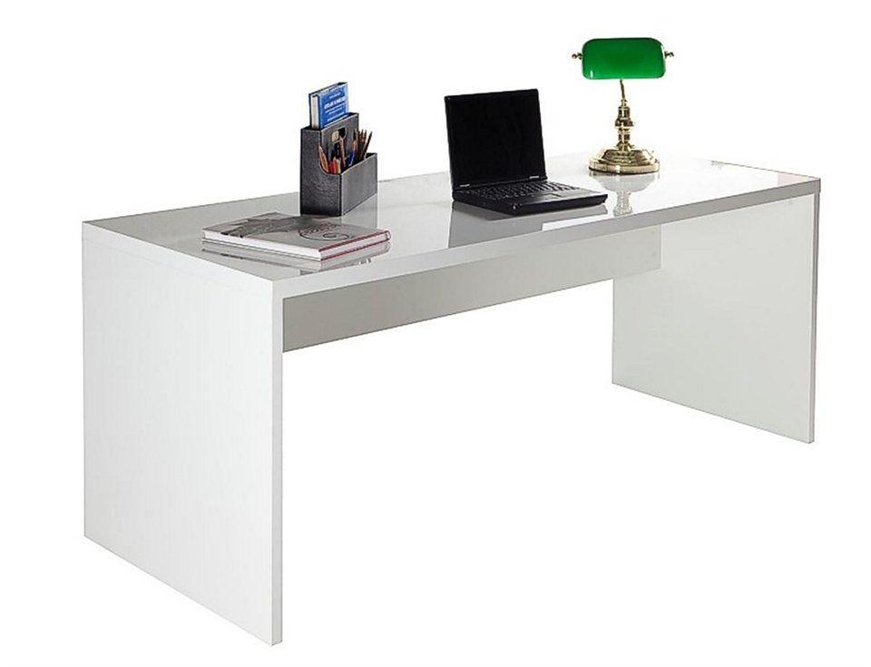 Eckschreibtisch weiß hochglanz  Composad Schreibtisch in Hochglanz weiss »KRONOS« | PS