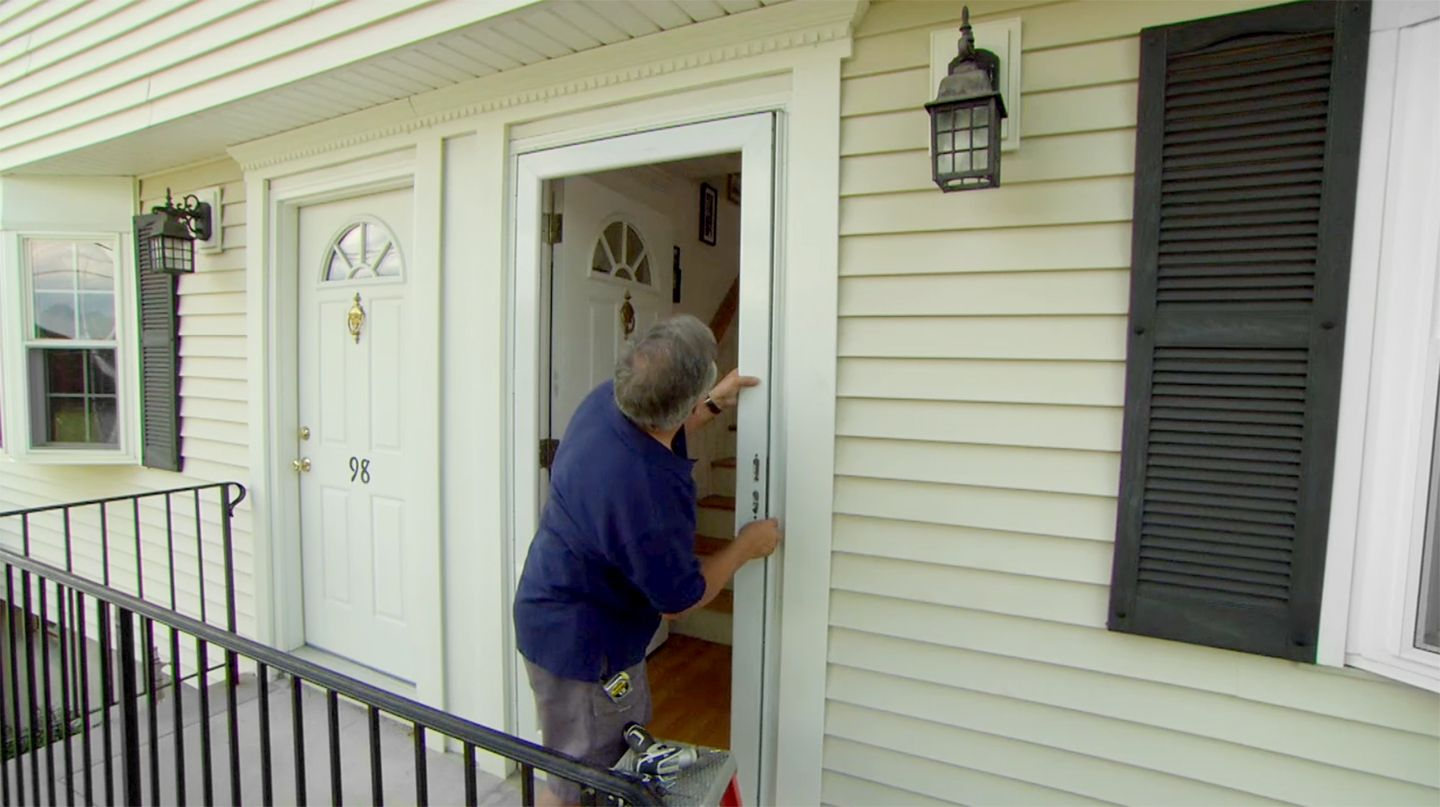 How To Install A New Storm Door In An Old Opening Storm Doors