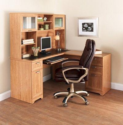 Realspace® Magellan Collection L-Shaped Desk, Honey Maple Item