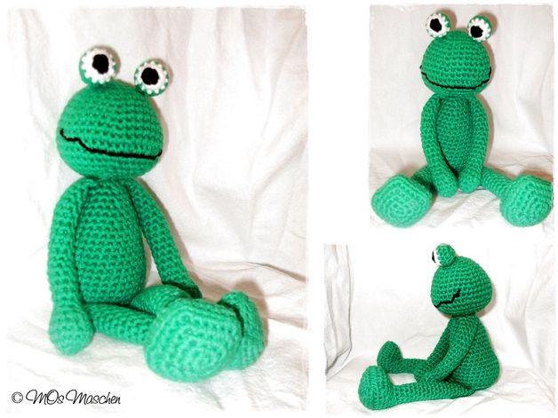 Anleitung - Oskar der Frosch made by MOs Maschen via DaWanda.com