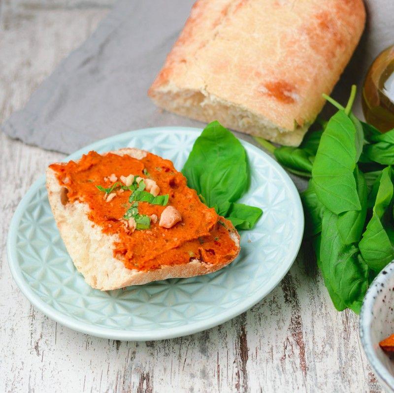 Best Vegan Sun-Dried Tomato Pesto   #vegan #glutenfree www.contentednesscooking.com