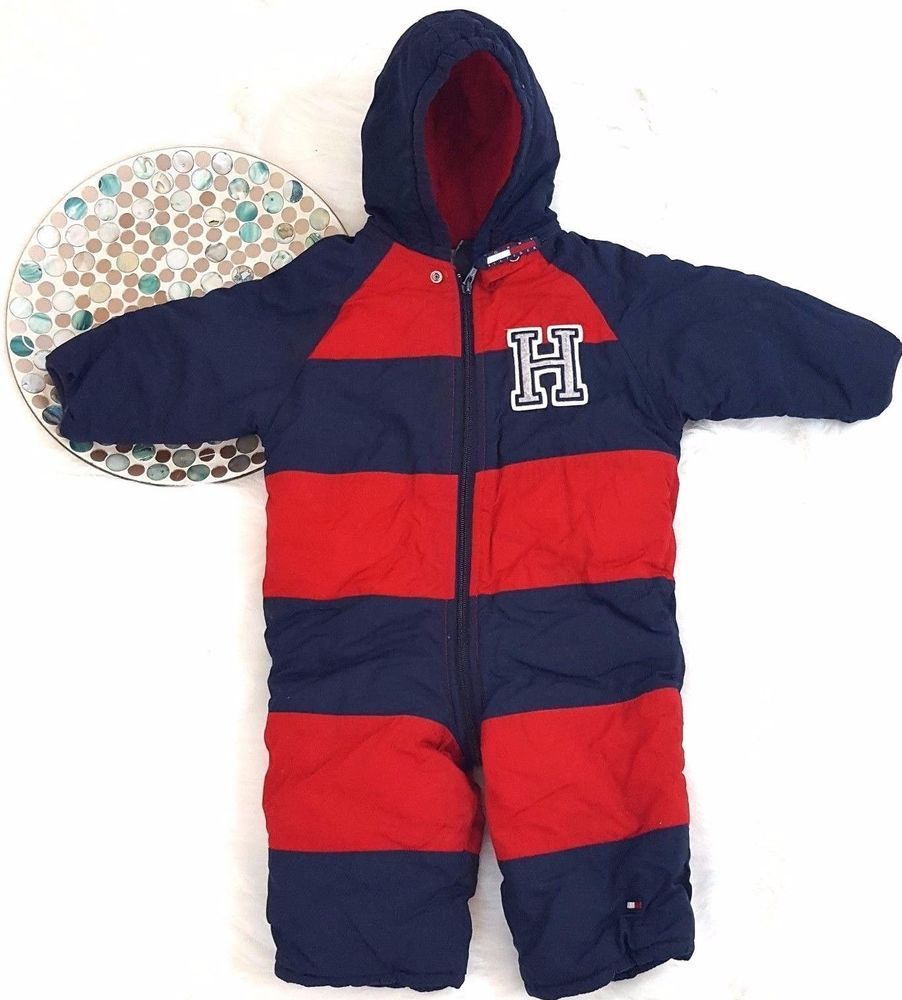6f59adecf Tommy Hilfiger Baby Boy Girl Snowsuit Size 12-18 Months Red Blue Winter  Bunting #TommyHilfiger #Snowsuit #Everyday
