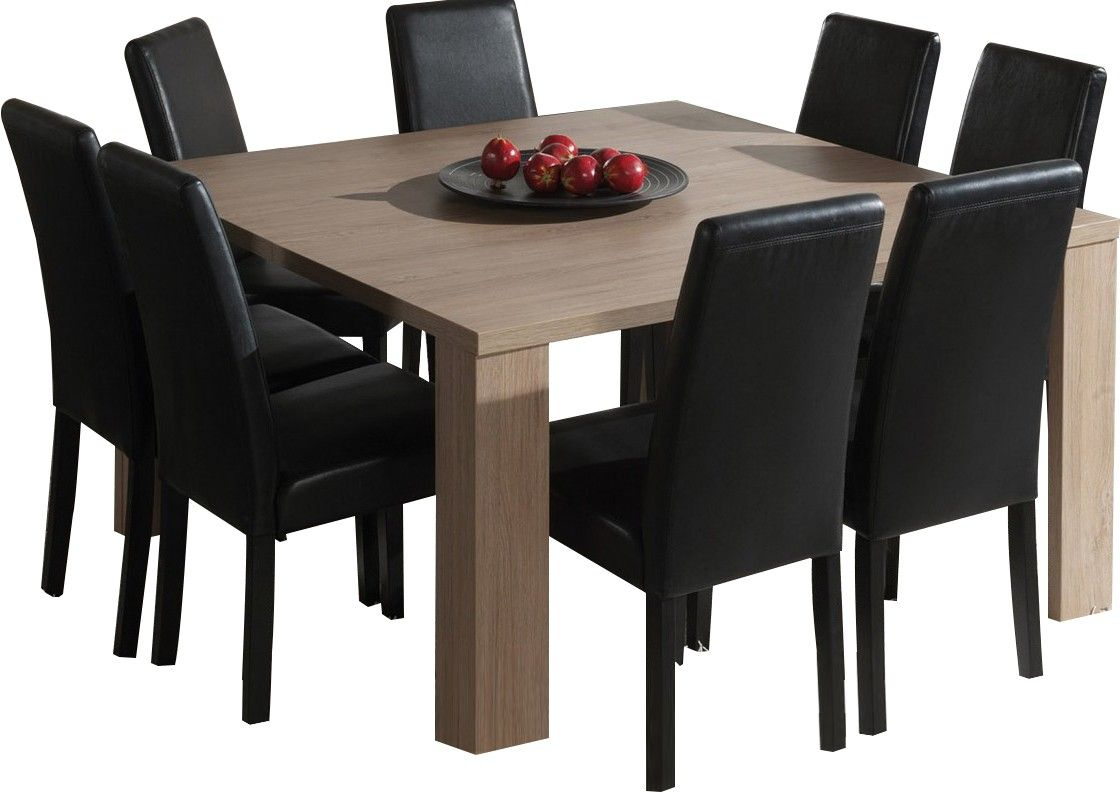 Table Carree Salle A Manger Moderne Coloris Chene Ardennes Table