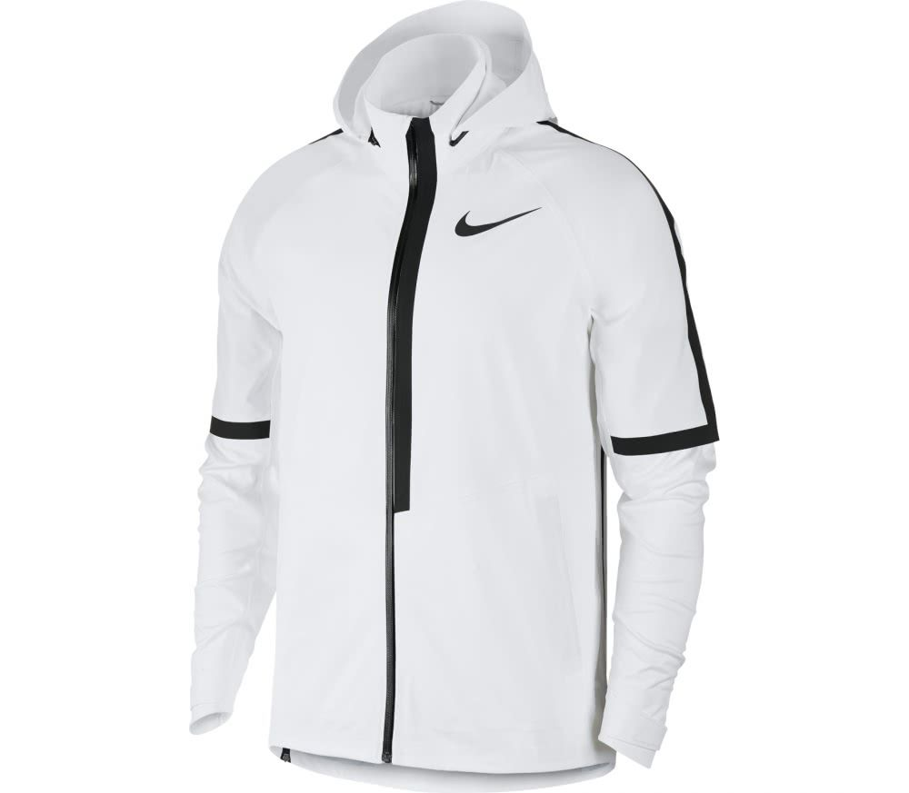a3557c0acaa2 Nike - AeroShield Hooded men s running jacket (white)